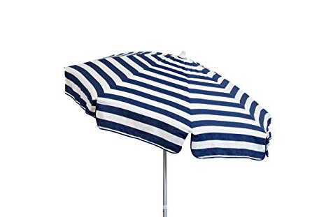 Well Known Destinationgear 1399 Italian Beach Umbrella Acrylic Stripes Navy And White Within Italian Beach Umbrellas (View 24 of 25)