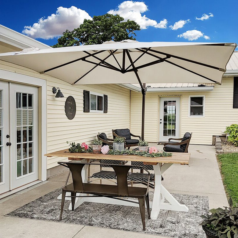 Well Known Fordwich  Rectangular Cantilever Umbrellas In Fordwich 8' X 10' Rectangular Cantilever Umbrella (View 9 of 25)