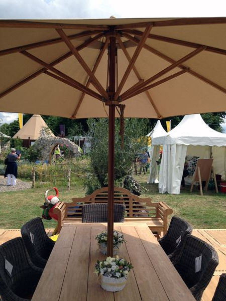 Well Known Gainsborough Market Umbrellas Throughout Irvine Large Garden Parasol 4M Sustainable Bamboo – Octagonal Canopy (View 24 of 25)