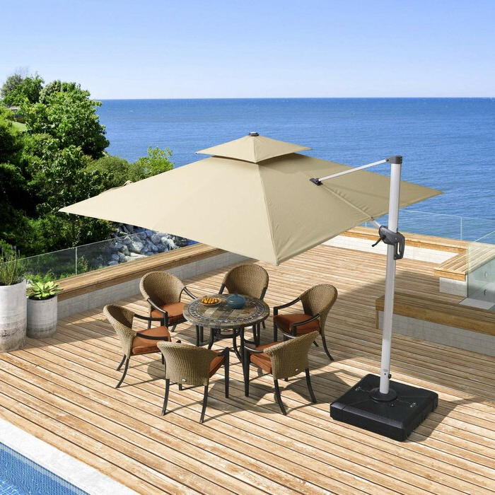 Well Known Grote Liberty Aluminum Square Cantilever Umbrellas Pertaining To Maidste 9' Square Cantilever Umbrella (View 23 of 25)