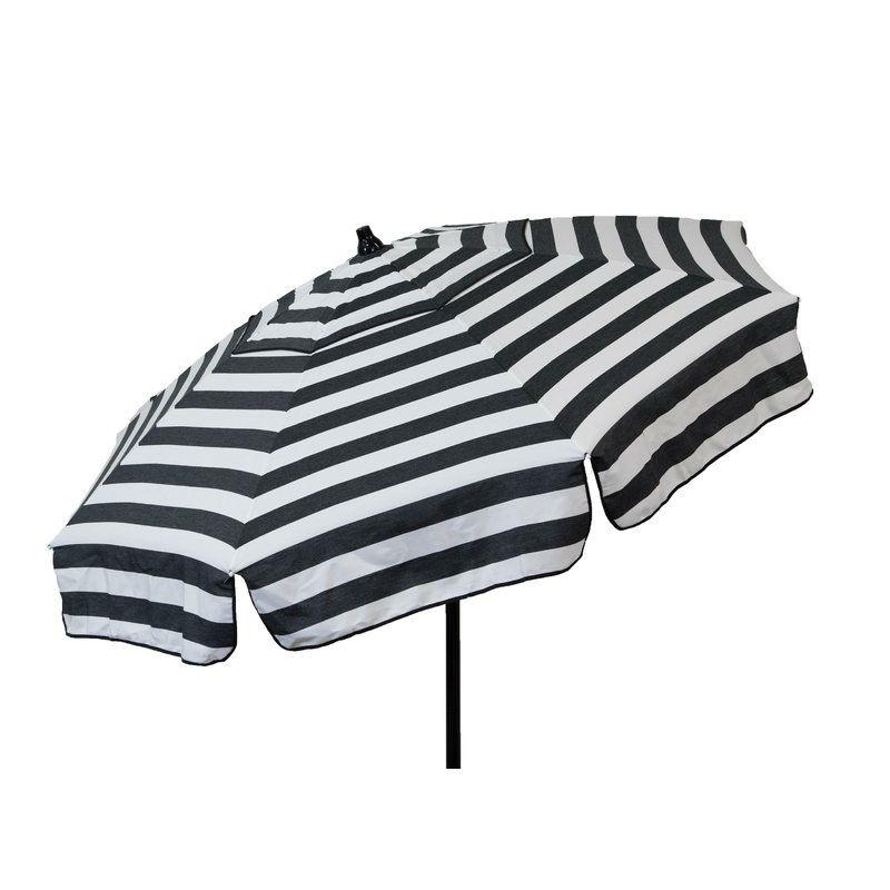 Well Known Italian Drape Umbrellas Intended For 6 Foot Black White Stripe Drape Umbrella Manual Lift With Tilt (View 24 of 25)