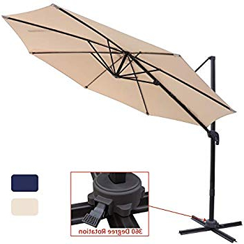 Well Known Kedzie Outdoor Cantilever Umbrellas For Amazon : Abba Patio 11 Ft Offset Patio Umbrella With Crank Lift (View 25 of 25)