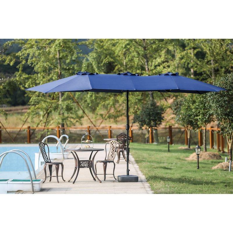 Well Known Launceston Rectangular Market Umbrellas Within Eisele 9' W X 15' D Rectangular Market Umbrella (View 10 of 25)