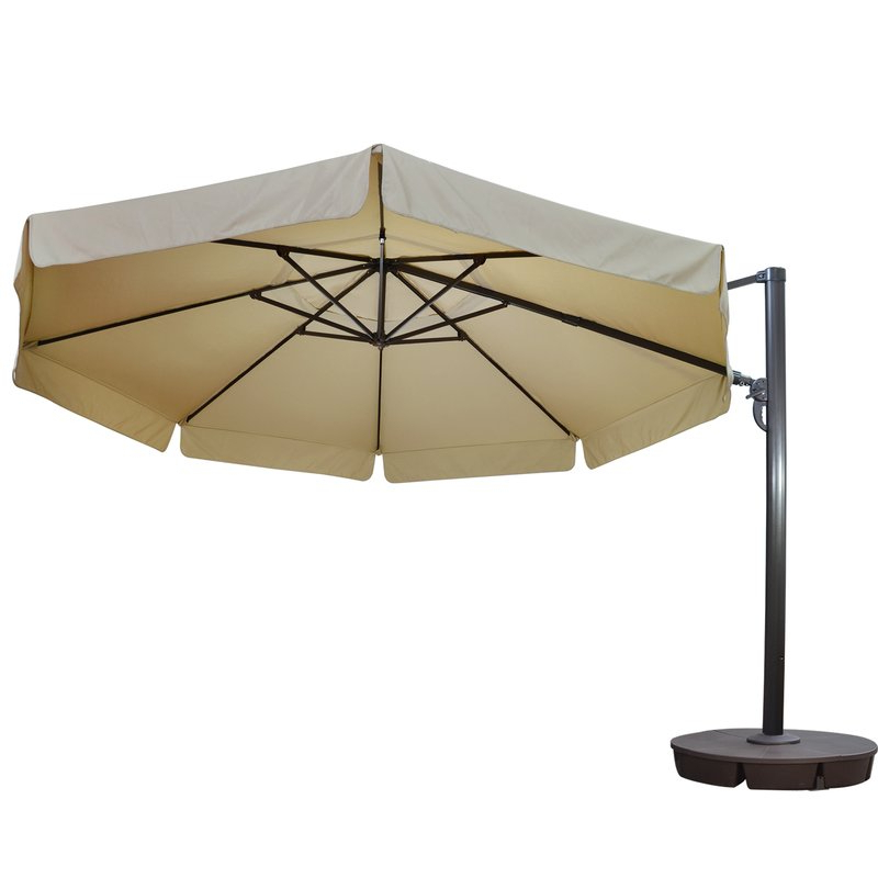 Well Known Lennie Cantilever Sunbrella Umbrellas Regarding Lennie 13' Cantilever Sunbrella Umbrella (View 3 of 25)