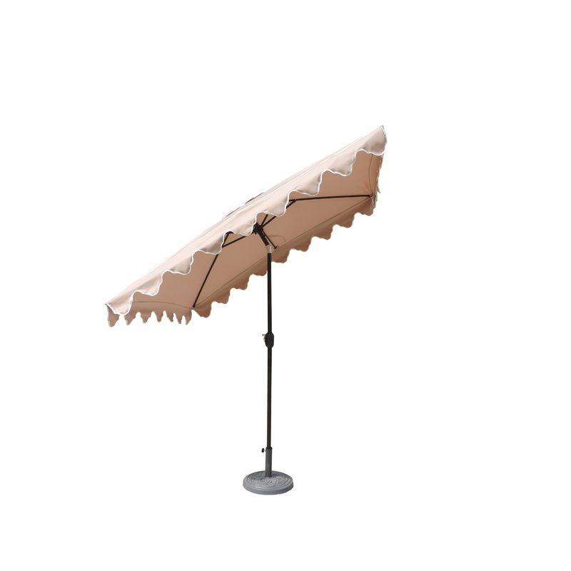Well Known Lonoke Patio 8' X 6' Rectangular Market Umbrella Within Sherlyn Rectangular Market Umbrellas (View 9 of 25)
