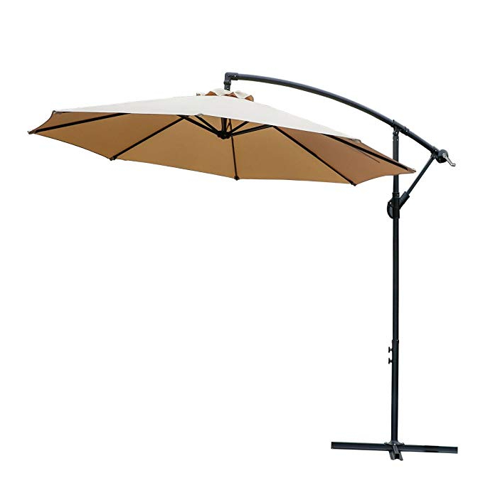 Well Known Lytham Cantilever Umbrellas Pertaining To Farland Offset Umbrella 10 Ft Cantilever Patio Umbrella Outdoor Market  Umbrellas With Cross Base (Beige) (View 9 of 25)