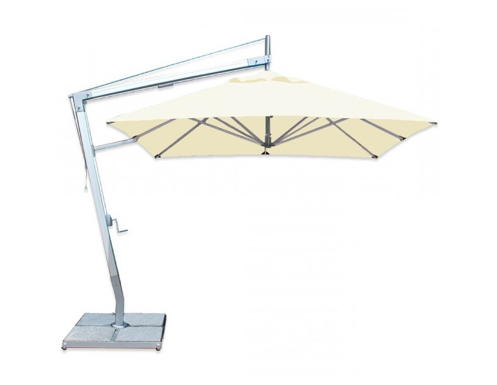 Well Known Santa Ana Aluminum Cantilever Umbrella From Bambrella With Regard To Frederick Square Cantilever Umbrellas (View 17 of 25)
