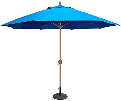 Well Known Tropishade 11' Sunbrella Patio Umbrella With Royal Blue Cover Regarding Featherste Market Umbrellas (View 6 of 25)
