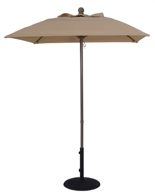 Well Known Wiebe Auto Tilt Square Market Sunbrella Umbrellas Within 6 ½' Aluminum Market Square Auto Tilt Umbrella (View 18 of 25)