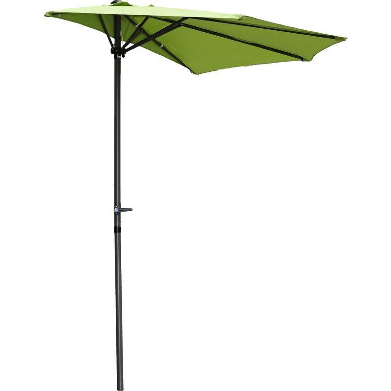 Well Liked Dade City North 9' Half Market Umbrella Inside Norah Rectangular Market Umbrellas (View 19 of 25)