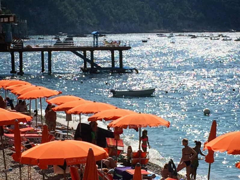 Well Liked Italian Beach Umbrellas In Amalfi Coast Orange Beach Umbrella's, Photolisa Van De Pol (View 9 of 25)