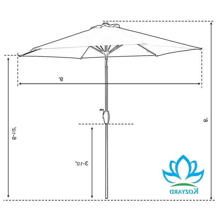Well Liked Keltner Patio Outdoor Market Umbrellas For Keltner Patio Outdoor 9' Market Umbrella (View 23 of 25)