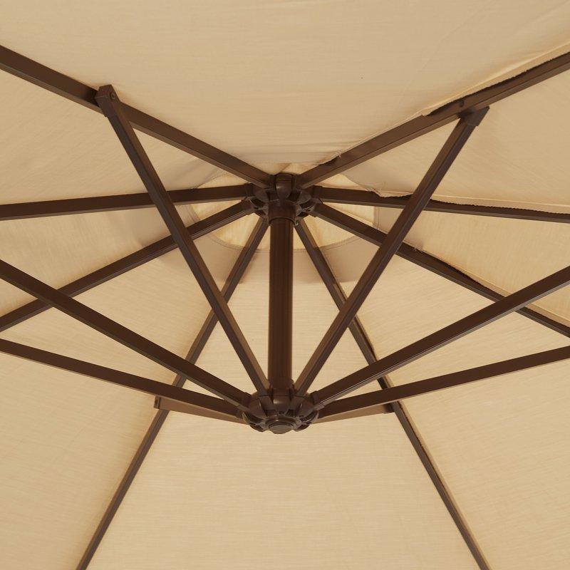 Well Liked Lennie 13' Cantilever Sunbrella Umbrella In Lennie Cantilever Sunbrella Umbrellas (View 8 of 25)