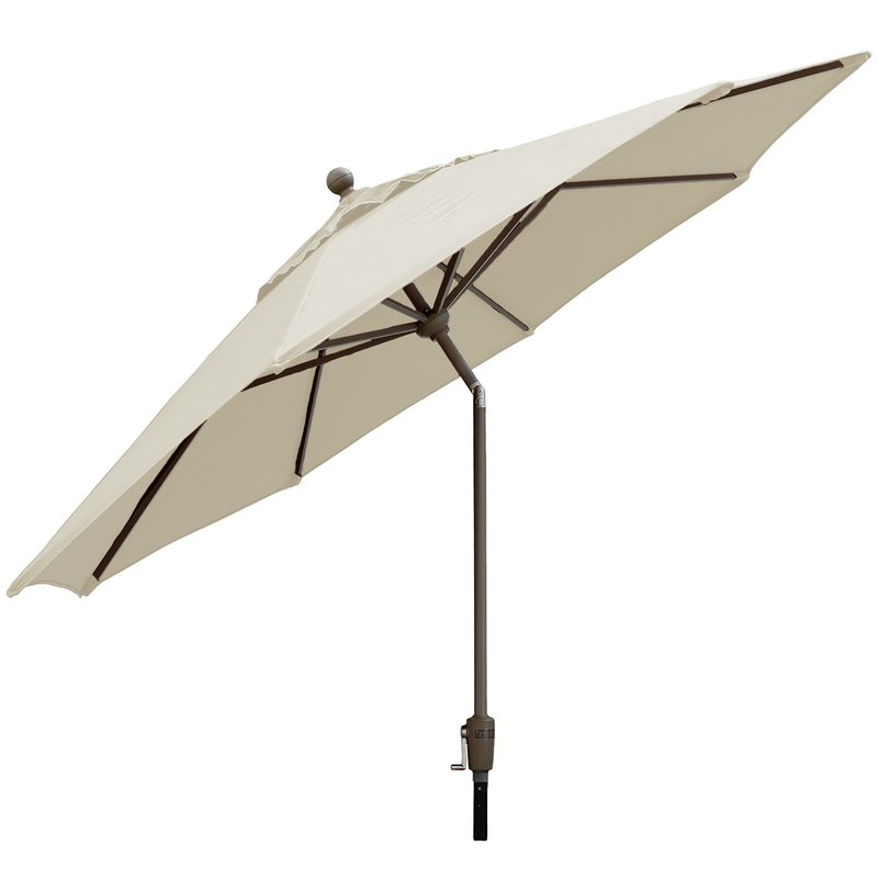Well Liked Sherlyn Rectangular Market Umbrellas Within Crowland 9' Market Sunbrella Umbrella (View 10 of 25)