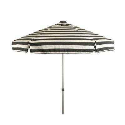 Well Liked Striped – Drape – Patio Umbrellas – Patio Furniture – The Home Depot With Italian Drape Umbrellas (View 25 of 25)