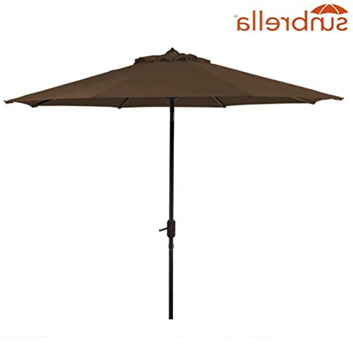 Well Liked Sunbrella Fabric Replacement Umbrella Canopy For 9Ft 8 Ribs Outdoor Patio  Umbrella Vented Canopy Sunbrella Sesame (Sunbrella Canopy Only, Sesame) Pertaining To Crowland Market Sunbrella Umbrellas (View 9 of 25)