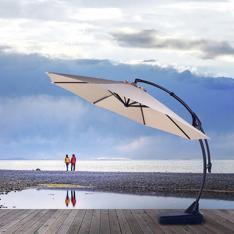 Well Liked Tilda 11' Cantilever Umbrella Throughout Tilda Cantilever Umbrellas (View 2 of 25)