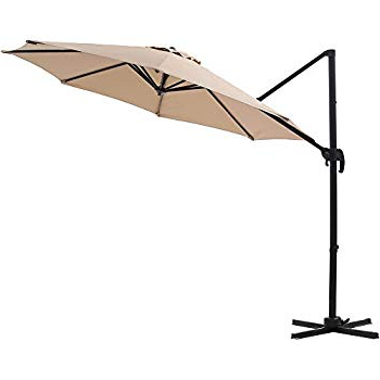 Well Liked Tottenham Patio Hanging Offset Cantilever Umbrellas In Amazon : Le Papillon 10 Ft Cantilever Umbrella Outdoor Offset (View 13 of 25)