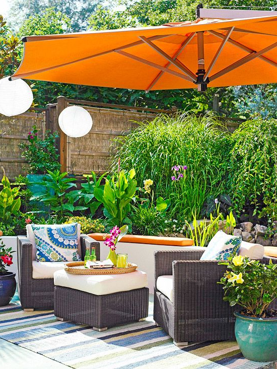 Well Liked Tropical Patio Umbrellas In Stylish Decorative Touches For Outdoor Rooms (View 8 of 25)