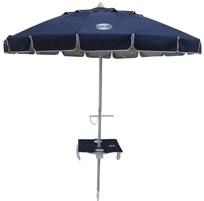 Widely Used Beach Umbrellas Throughout Sunraker® Beach Umbrella With Table (View 24 of 25)