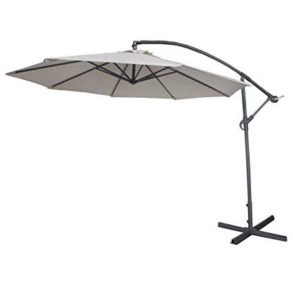 Widely Used Booneville Cantilever Umbrellas Within Abba Patio 10 Feet Offset Cantilever Outdoor Hanging Patio Umbrella, Ivory (View 5 of 25)