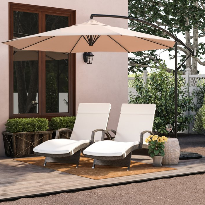 Widely Used Cantillo 10' Cantilever Umbrella For Maglione Fabric Cantilever Umbrellas (View 24 of 25)
