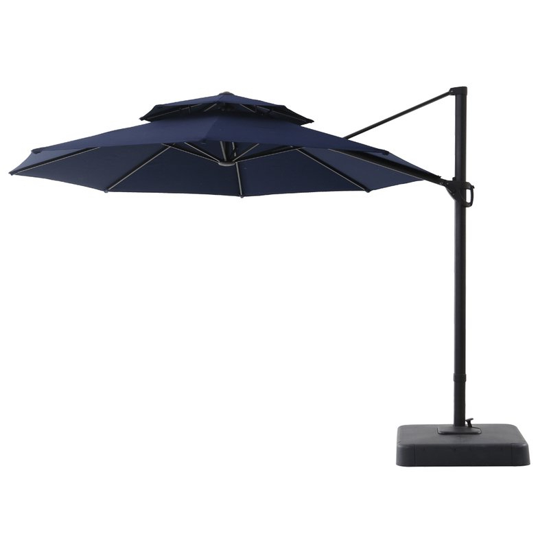 Widely Used Elaina Cantilever Umbrellas With Regard To Digregorio 11' Cantilever Umbrella (View 14 of 25)