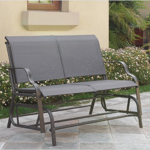 Widely Used Gries Rectangular Market Umbrellas For Purchase Callen 49 Outdoor Patio Swing Glider Bench Chair – Dark (View 24 of 25)