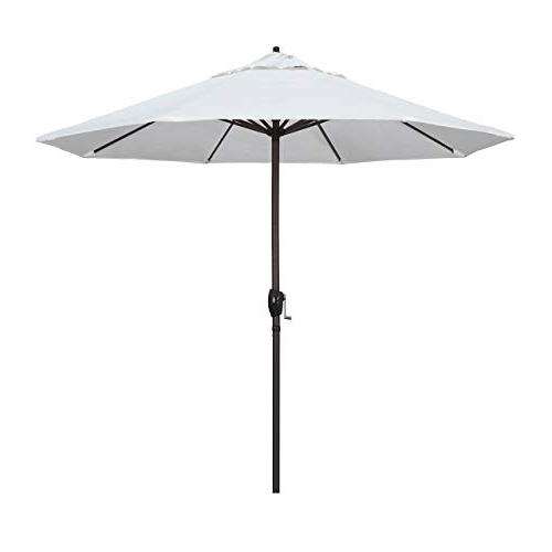 Widely Used Shropshire Market Umbrellas Pertaining To White Patio Umbrella: Amazon (View 24 of 25)