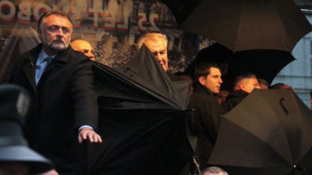 Widely Used The Czech President Milos Zeman Had To Leave The Stage Protectedseveral  Umbrellas, As Rob Cameron Reports Pertaining To Zeman Market Umbrellas (View 18 of 25)