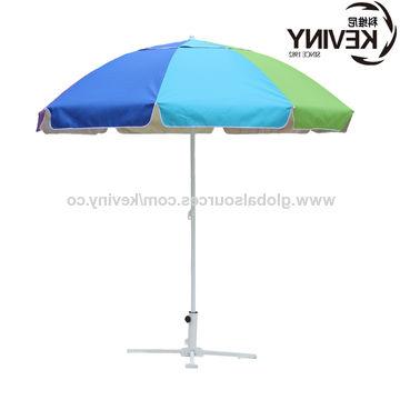 "Widely Used Tilt Beach Umbrellas Regarding China 40"" Beach Umbrellas 120G Polyester Silver Coating Fabric Uv (View 24 of 25)"
