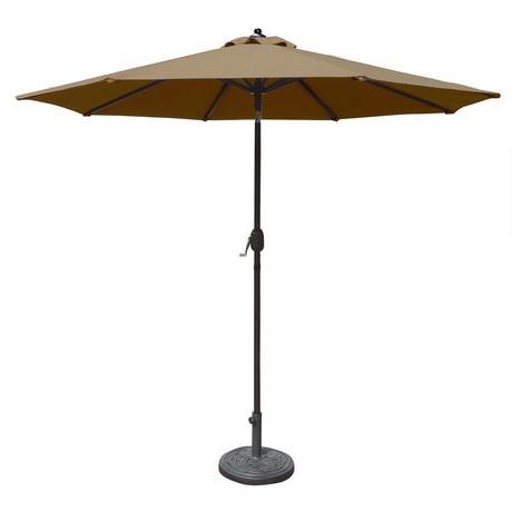 Wiebe Market Sunbrella Umbrellas With Trendy Island Umbrella Mirage 9 Ft Octagonal W/ Auto Tilt Stone Sunbrella Acrylic Market Umbrella (View 22 of 25)