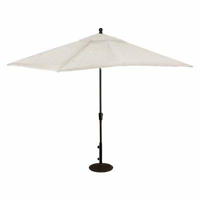 Wieczorek Auto Tilt Rectangular Market Sunbrella Umbrellas With Best And Newest Caspian Rectangular Market Umbrella Sunbrella Acrylic, 8' X  (View 22 of 25)