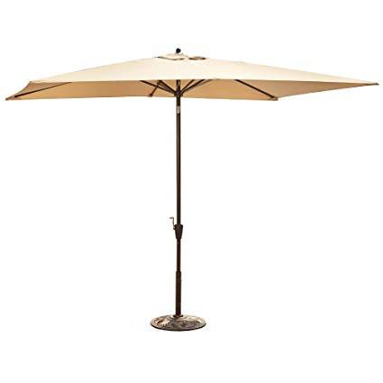 Wieczorek Auto Tilt Rectangular Market Sunbrella Umbrellas Within Preferred Adriatic  (View 25 of 25)