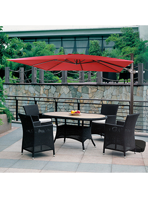 Windell Square Cantilever Umbrellas Pertaining To Preferred Amazon : Domi Outdoor Living 1010 Feet Square Cantilever (View 24 of 25)