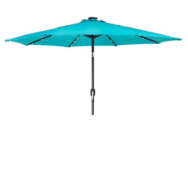 Woll Lighted Market Umbrellas Intended For Widely Used Woll 9' Lighted Market Umbrella (View 4 of 25)