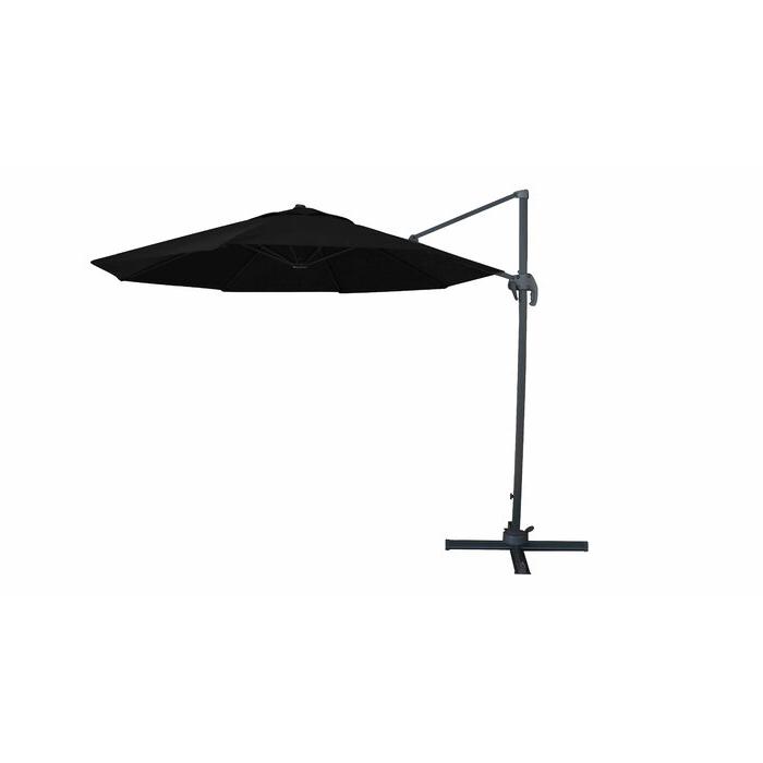 Yajaira Cantilever Umbrellas Inside Favorite Solarte 11' Cantilever Umbrella (View 12 of 25)