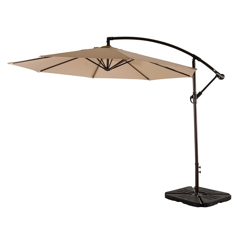 Yajaira Cantilever Umbrellas Regarding Well Liked Kizzie Market 10' Cantilever Umbrella (View 15 of 25)