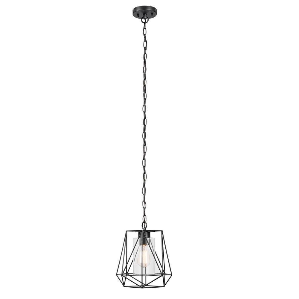 1 Light Geometric Globe Pendants In 2020 Globe Electric Sansa 1 Light Black Outdoor/indoor Hanging Pendant (View 12 of 25)