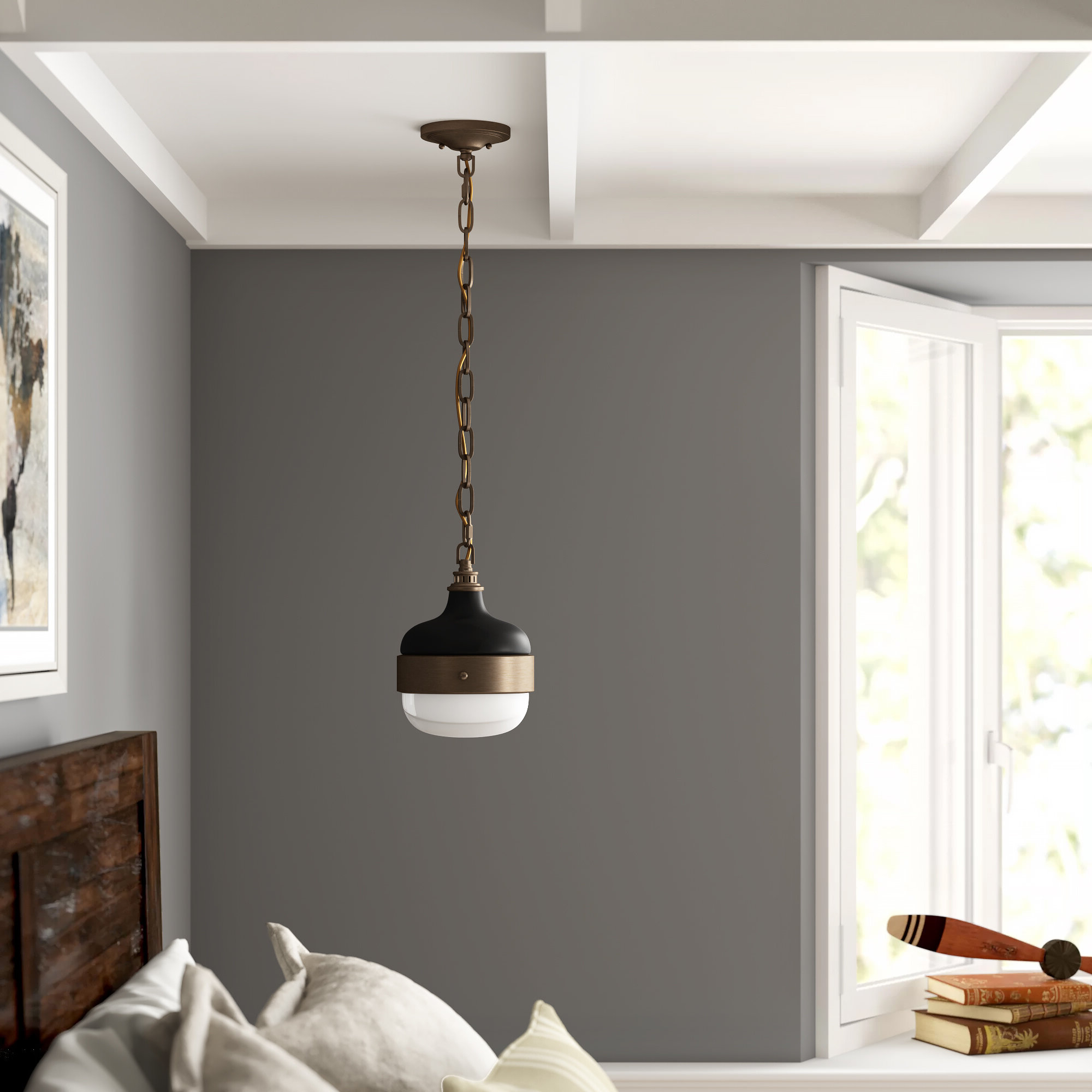 1 Light Globe Pendant For Fashionable Ryker 1 Light Single Dome Pendants (Gallery 12 of 25)
