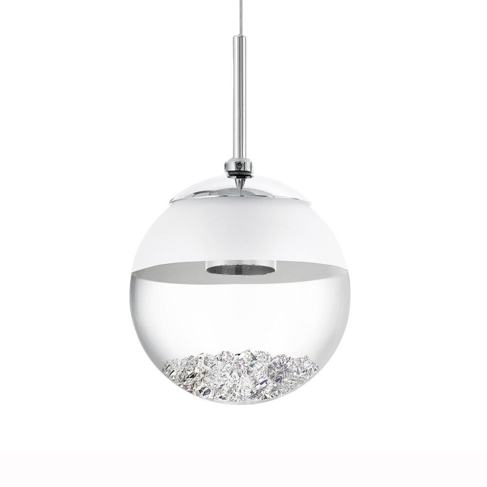 1 Light Globe Pendants Regarding Favorite Montefio 1 Led Crystal Globe Pendant Light (Gallery 15 of 25)