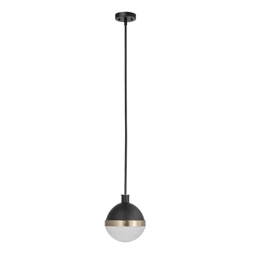 1-Light Globe Pendants with Famous Globe Electric Bari 1-Light Matte Black Pendant