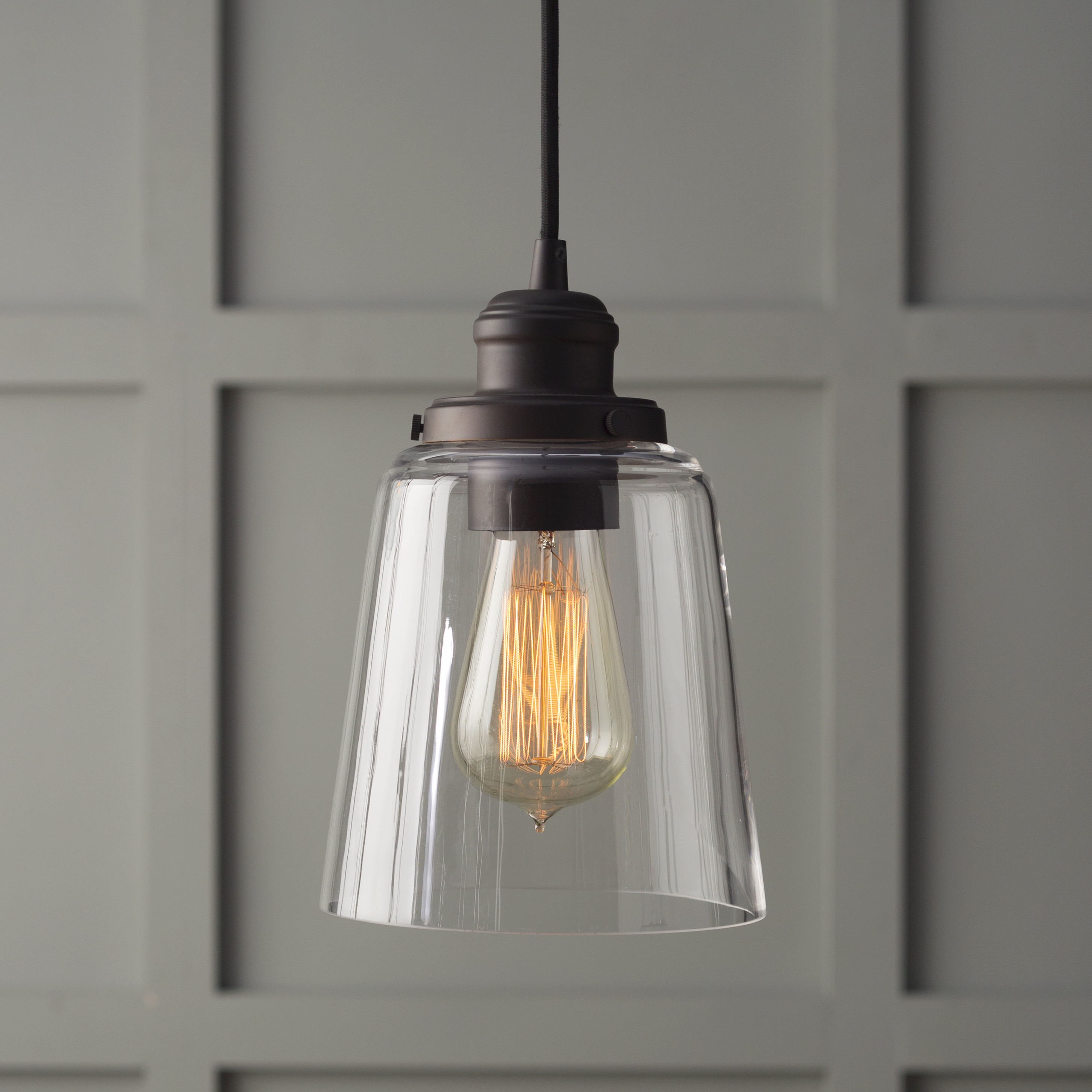 1 Light Single Bell Pendant Inside Fashionable Houon 1 Light Cone Bell Pendants (Gallery 5 of 25)