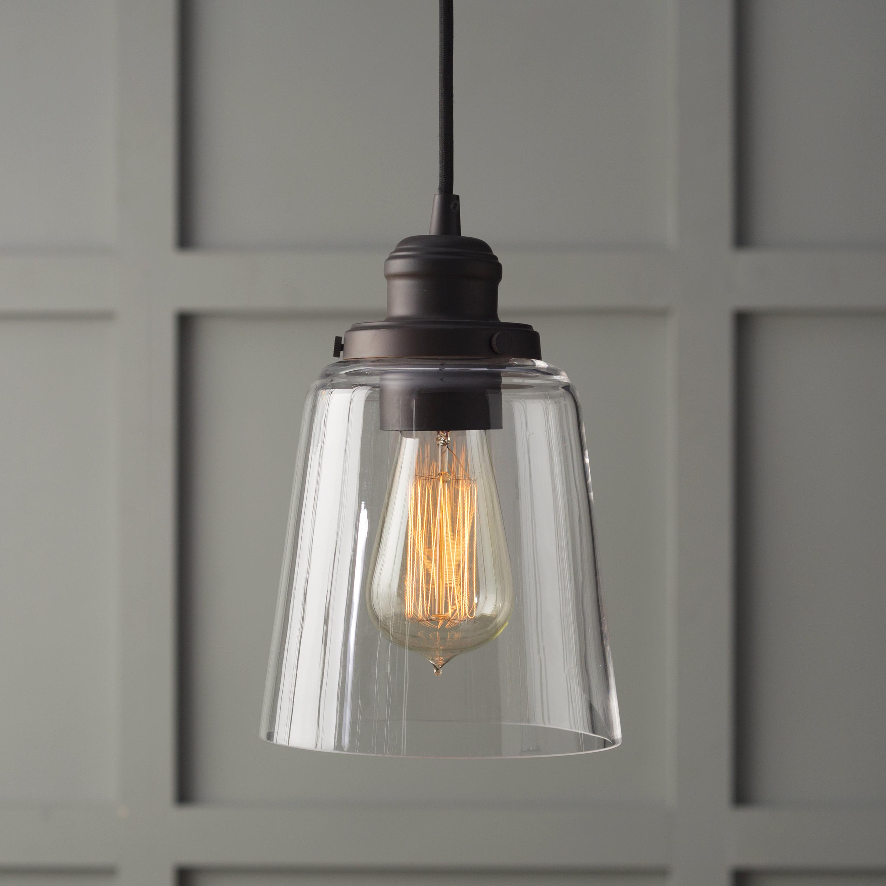 1 Light Single Bell Pendants Intended For Most Recent 1 Light Single Bell Pendant (Gallery 1 of 25)