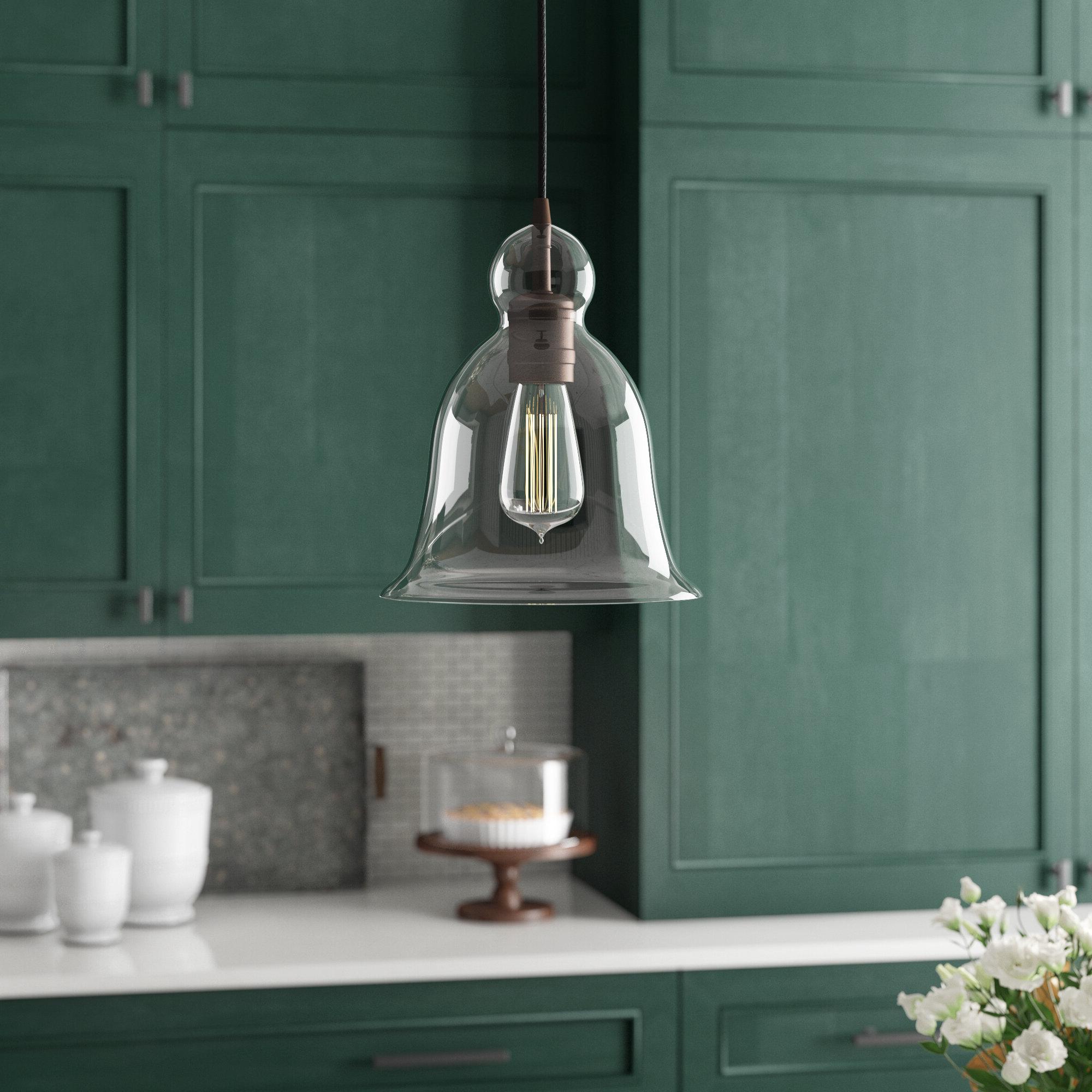 1-Light Single Bell Pendants intended for Newest 1-Light Single Bell Pendant