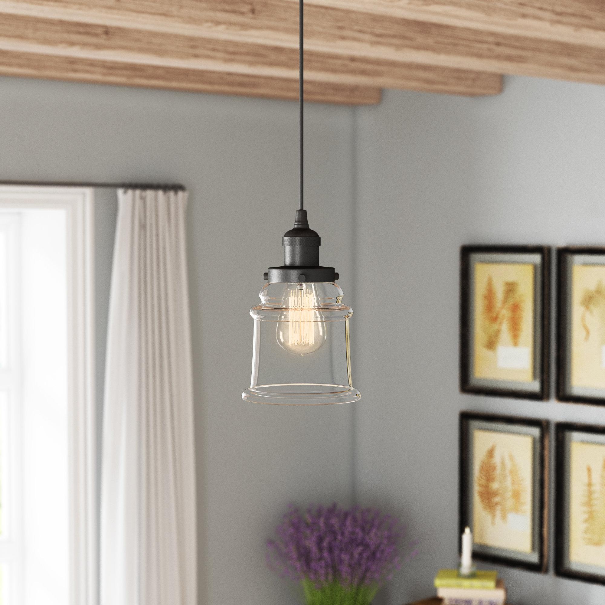 1 Light Single Bell Pendants Pertaining To Best And Newest Greeley 1 Light Single Bell Pendant (View 15 of 25)