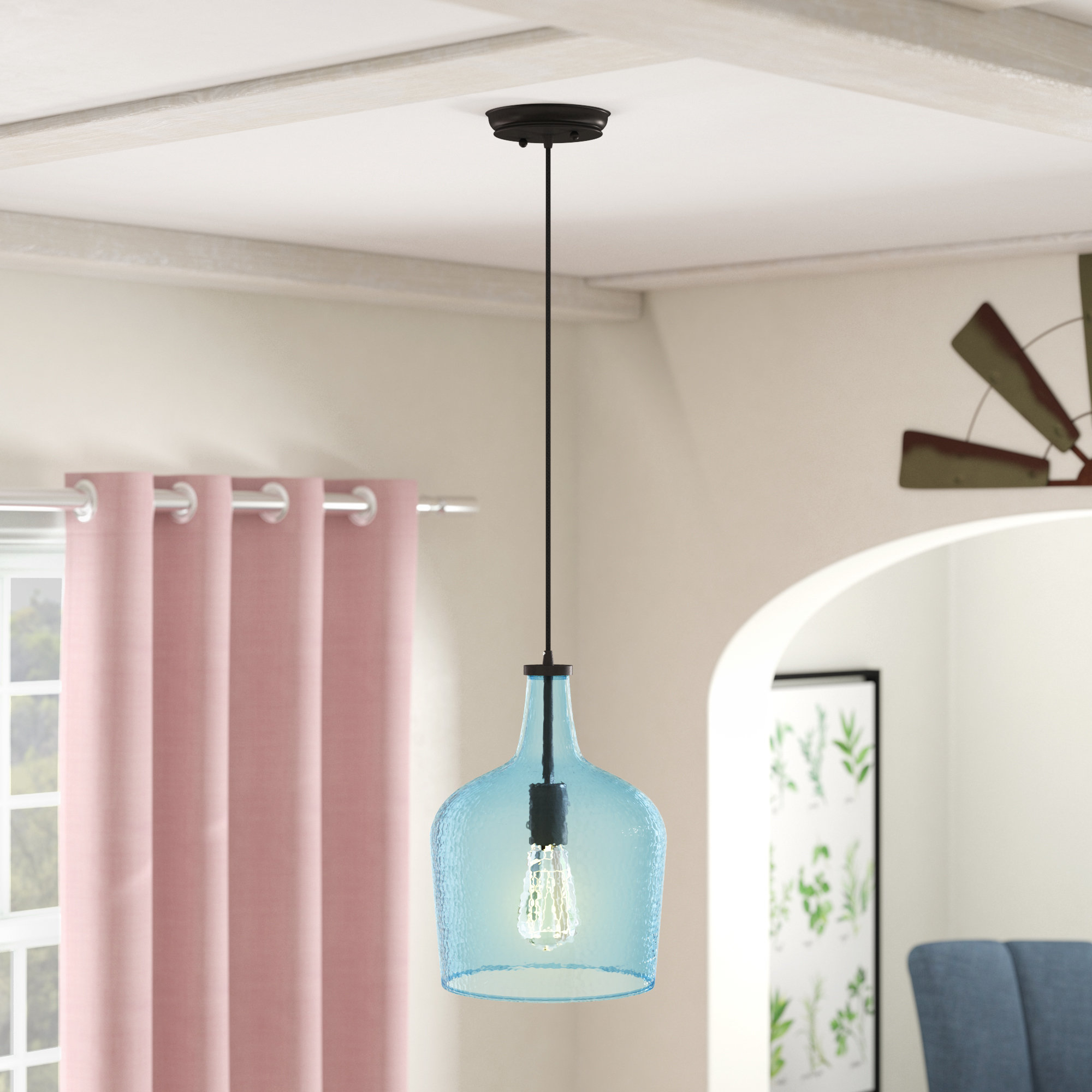 1-Light Single Bell Pendants throughout Favorite Scruggs 1-Light Single Bell Pendant
