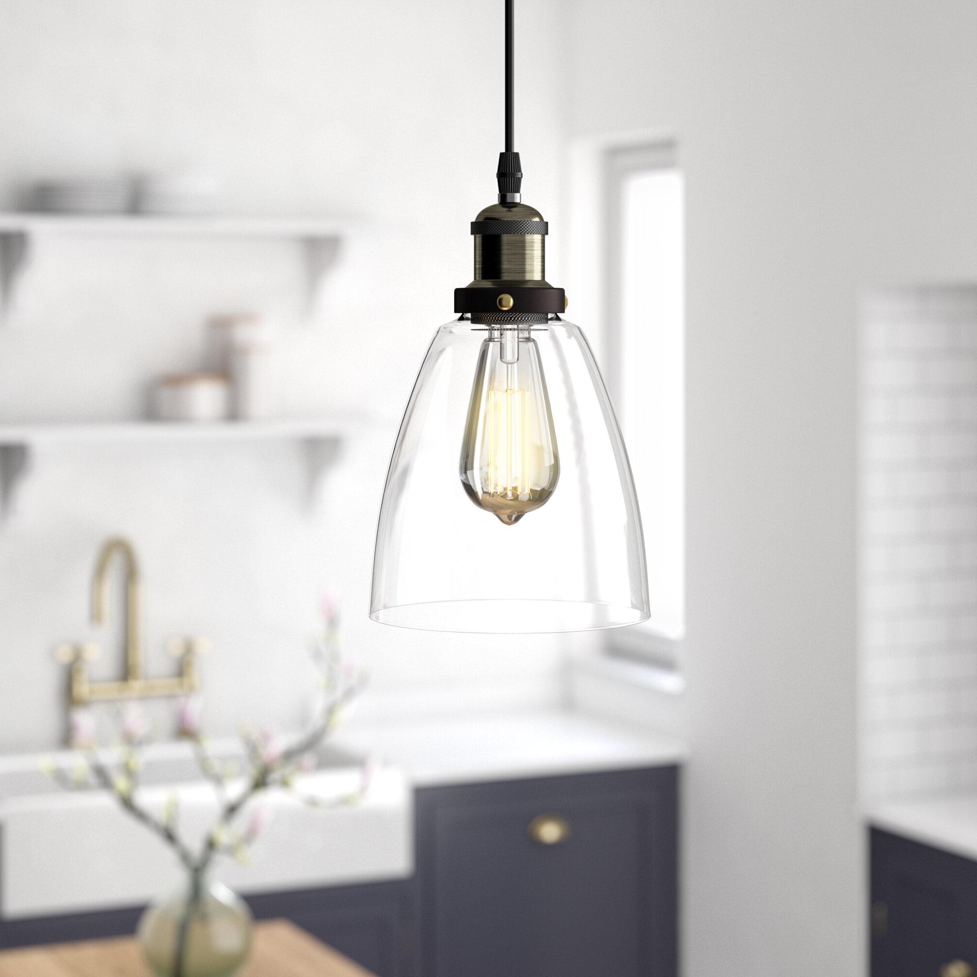 1 Light Single Bell Pendants With Trendy Bouvet 1 Light Single Bell Pendant (Gallery 25 of 25)