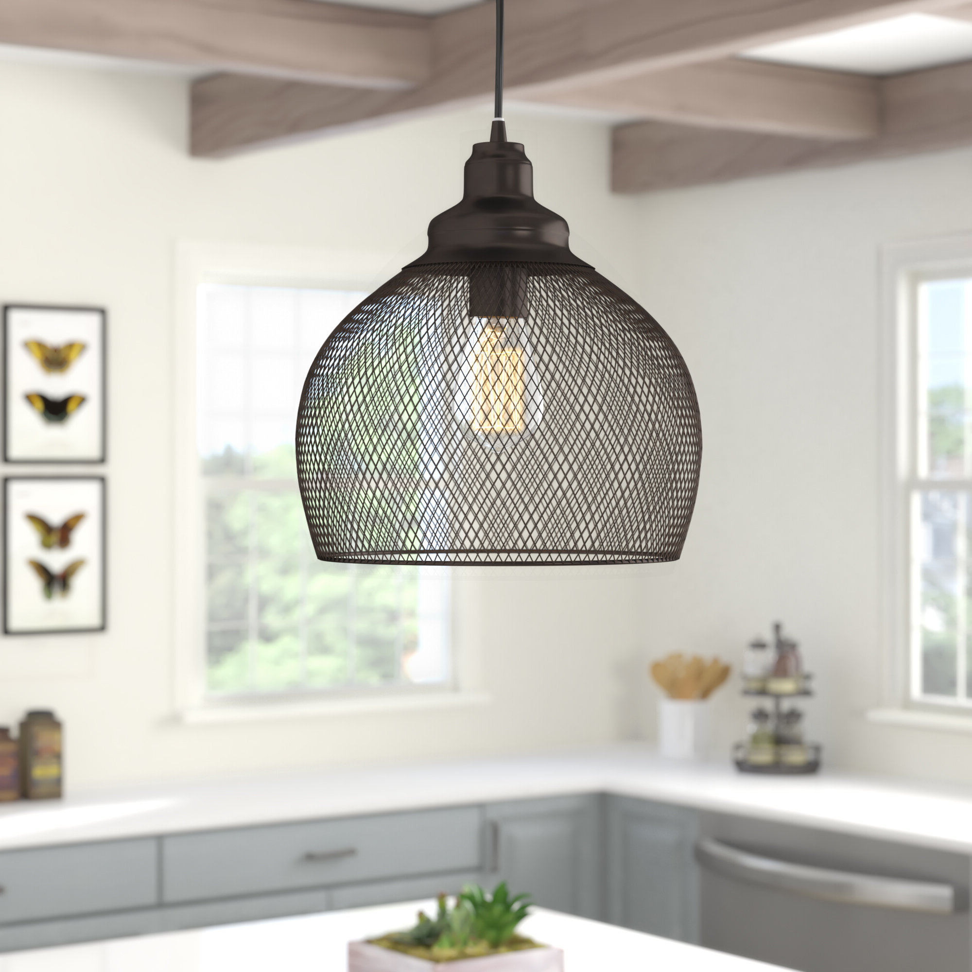 1 Light Single Dome Pendants In Well Known Ryant 1 Light Single Dome Pendant (View 12 of 25)