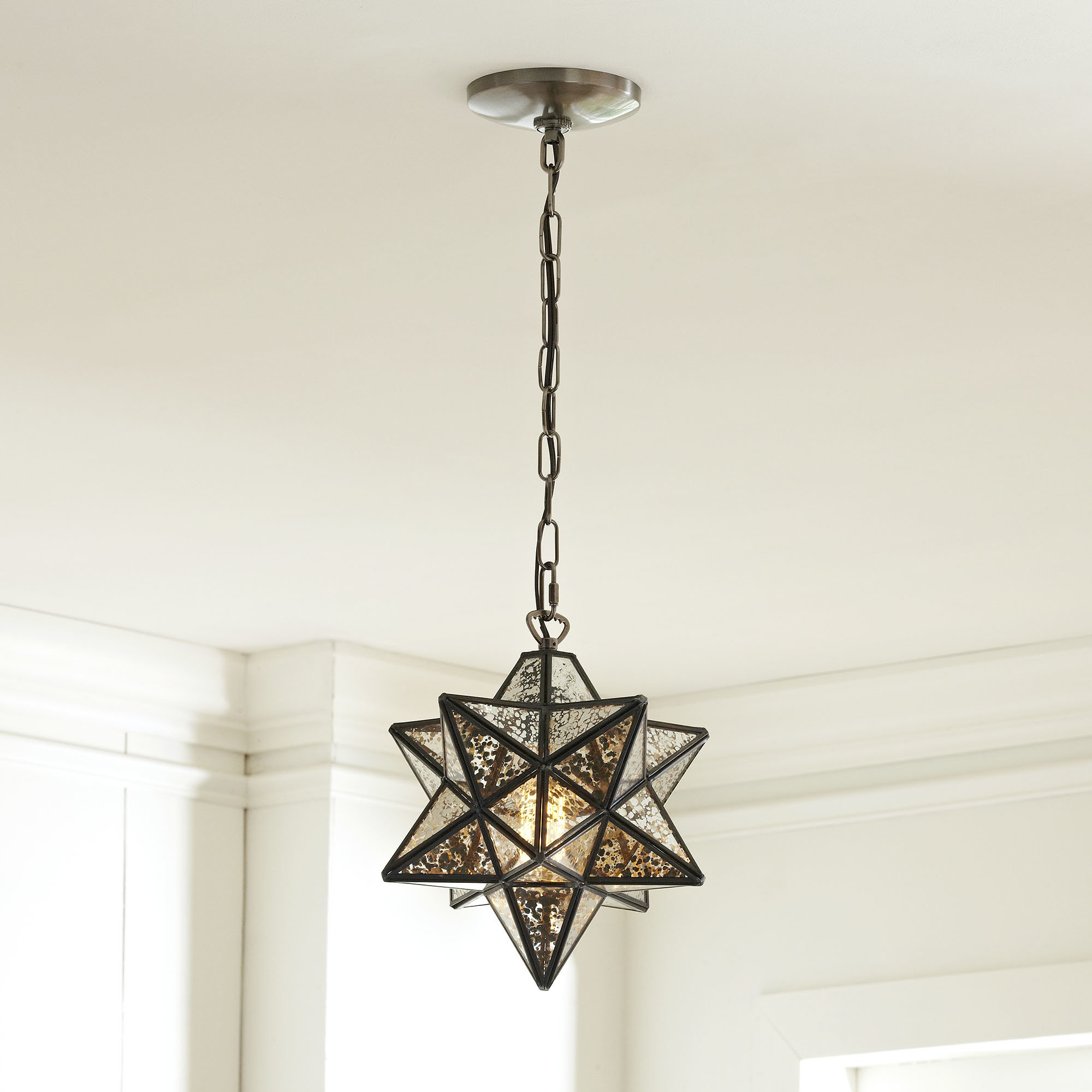 1 Light Single Star Pendant In Most Recent Louanne 1 Light Lantern Geometric Pendants (View 25 of 25)